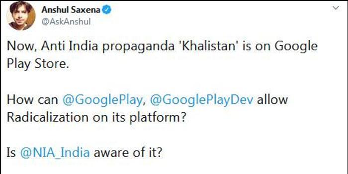 """谷歌商店上架""""锡克独立公投""""APP 印度人怒了"""
