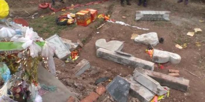 祭拜刚去世家人 坟前突然垮塌一家1死3伤