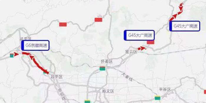 注意 北京公布十一假期出京方向拥堵路段