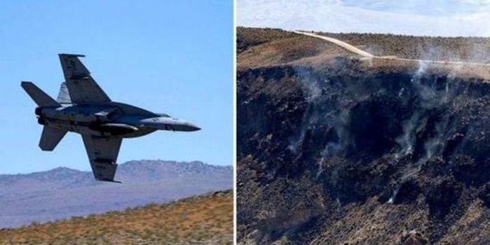 """美海军一架战机在""""中国湖""""基地附近坠毁(图)"""