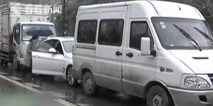 宝马车出车祸 女司机买张彩票压惊还中了五元