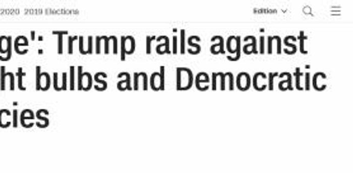 """惹到他?特朗普抨击节能灯:让我看起来""""很橘"""""""