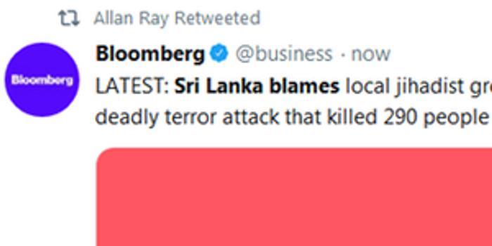 美媒:斯里兰卡确认连环爆炸由极端组织NTJ策划