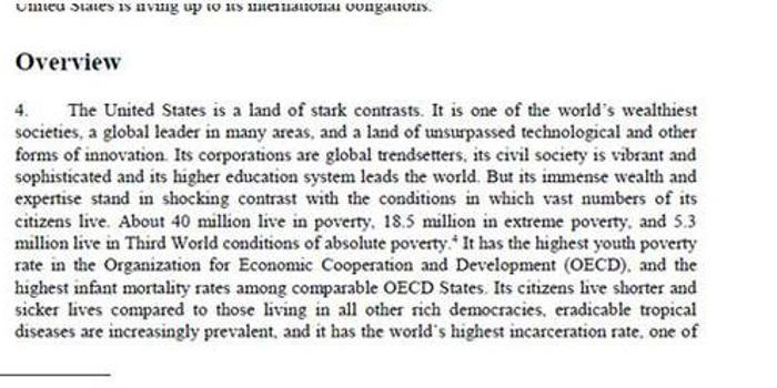 美驻联合国代表反驳涉美贫困报告 遭美参议员打脸