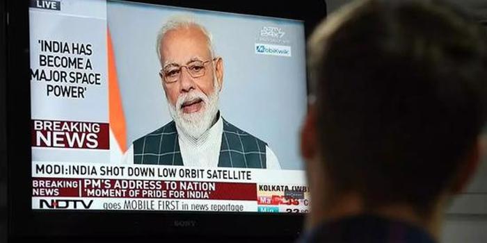 莫迪兴奋宣布印度击落太空卫星 美媒却想到了中巴