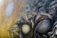 """""""朱诺""""号12次飞越木星 带来波云诡谲画面"""