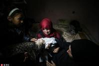 巴勒斯坦8月大婴儿在巴以冲突中丧命 葬礼举行引人痛心