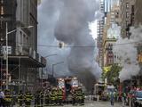 纽约第五大道蒸汽管道发生爆