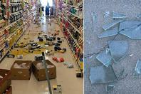 美国6.4级地震:货架商品掉一地