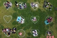 美舊金山一處公園以心形圖案防聚眾