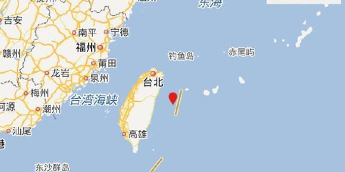 中国台湾地区附近发生4.2级左右地震