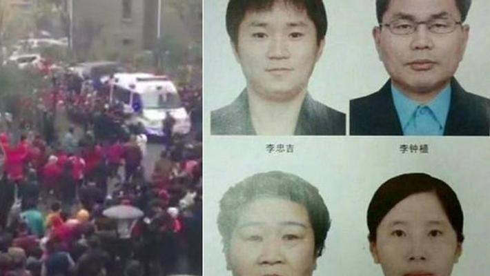 青岛灭门案四嫌犯押解回现场