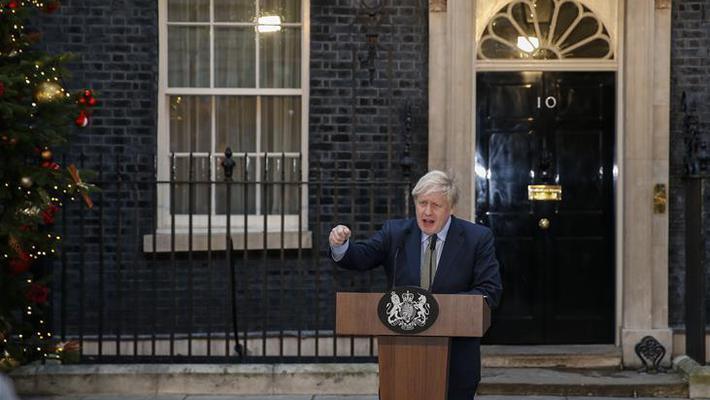 约翰逊就任英国首相发表演讲