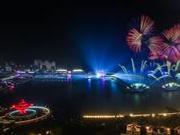 上合峰会灯光焰火表演《有朋自远方来》