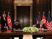 """""""特金会""""联合声明说了啥?朝方承诺完全无核化"""