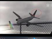 捉谣记|首都航空迫降客机在空中360度翻跟斗?假的