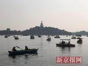 """北京北海公园4天入园27万人 460余艘船全""""开航"""""""