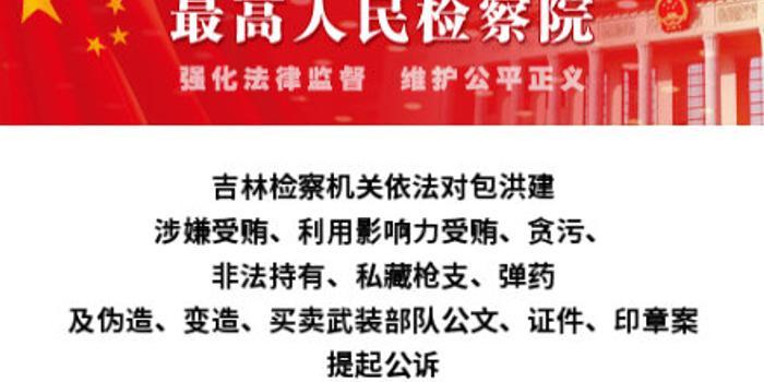 吉林住建廳原副廳長包洪建被訴:偽造武裝部隊公文