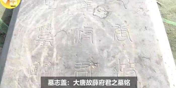 唐太平公主驸马薛绍墓在西安被发现 有陶俑出土
