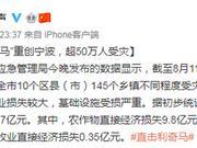 """台风""""利奇马""""造成浙江宁波超50万人受灾"""