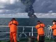 """中国石油报:""""桑吉""""轮沉没 泄漏的油该怎么办?"""