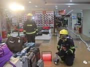 宁夏消防开展地下商场火灾扑救实战拉动演练