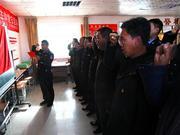 石嘴山市交警分局深入扶贫村开展主题党日和观摩活动