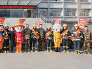 石嘴山市119消防宣传月暨消防摩托 三城百里安全行活动