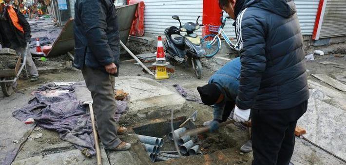 期待 芙蓉街提升改造工程施工进行中