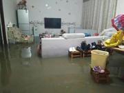 绵竹新市镇积水严重 镇村干部连夜转移群众100多户