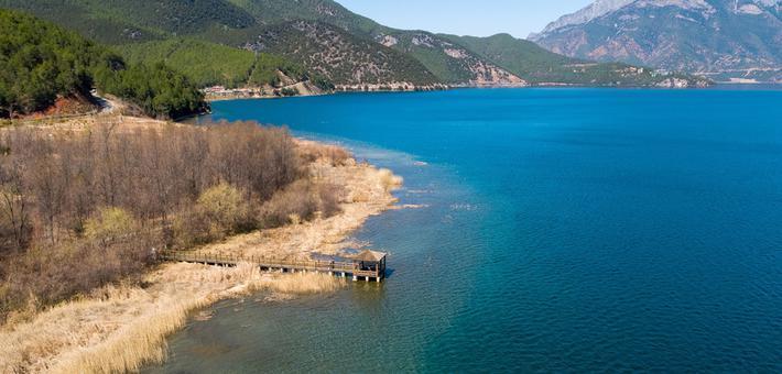 鸟瞰别样泸沽湖 一睹秀丽的山光水色风采