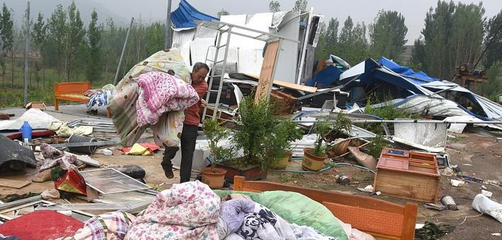 沂南遭风雹灾害 直接经济损失1780万