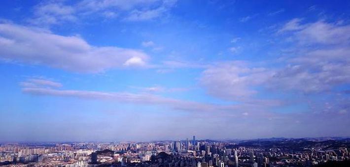 天空成画板 航拍济南最美云景图