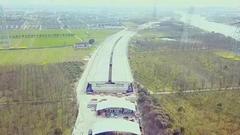 金廊公路新建工程已初具雏形 计划明年6月通车