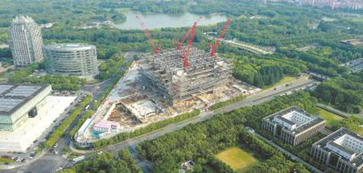 上海图书馆东馆即将结构封顶