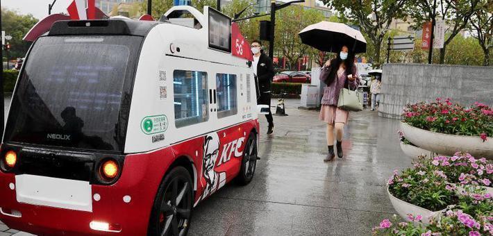 上海:无人餐车服务市民