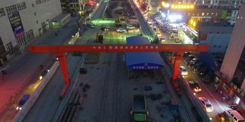 俯瞰建设中的太原地铁二号线