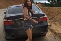 偶遇一缅甸黑妞,身后百万雷克萨斯豪车,网友:缅甸富二代?