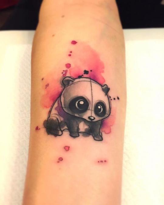 聊城纹身师 | 可爱熊猫纹身集合