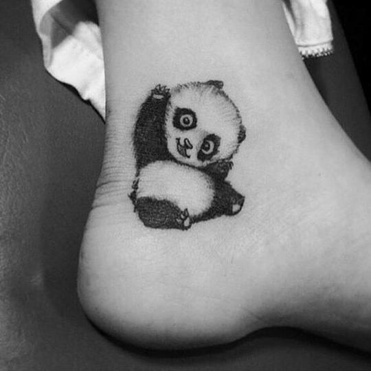 聊城纹身师   可爱熊猫纹身集合图片
