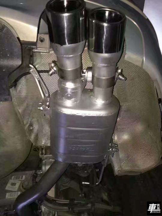 德国Repose中尾段四出阀门排气上身3.0T宝马535Li
