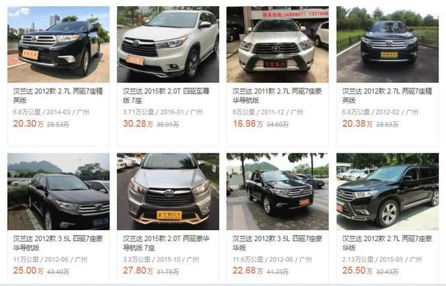 20万预算,二手汉兰达PK国产精品SUV,选谁更聪明