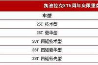 凯迪拉克XT5推新款 新增多项配置却不加价 厂家脑子瓦特了?