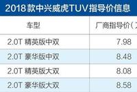2018款威虎TUV上市 售7.98-8.58万元/动力提升