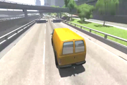 Beamng驱动中:汽车加速通过双面护柱会怎么样呢?