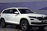 斯柯达旗舰SUV官图发布,加了装饰的科迪亚克,日内瓦车展亮相