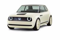 本田概念电动车外形像MINICOOPER  内部空间有沙发电视像客厅