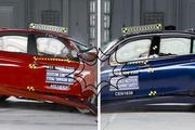 进步明显 第六代宝马3系改款前后碰撞测试对比