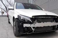 奔驰GLC级的前部防撞钢梁, 是铝合金的, 宝马的安全性不错