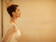"""佟丽娅任首位""""天坛女神"""" 纯白水墨长裙尽显大美中国风"""
